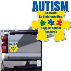 Autism Awareness Puzzle Piece Be Aware Car Magnet 8