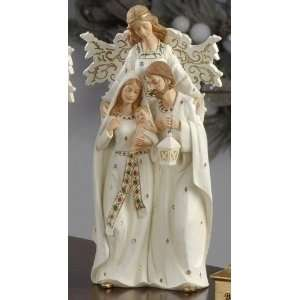 Pack of 2 Holiday Cheer Holy Family with Angel Christmas