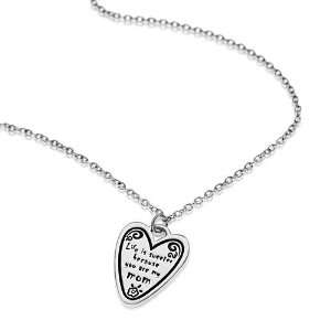 925 Sterling Silver Life is sweeter because you are my mom Heart