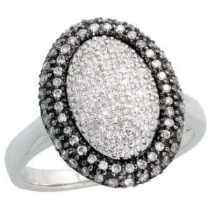 Gold Oval shaped Diamond Ring, w/ 0.50 Carat Brilliant Cut Diamonds