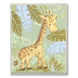 The Kids Room Giraffe in Jungle Rectangle Wall Plaque