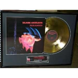 Black Sabbath Paranoid Framed 24kt Gold Plated LP