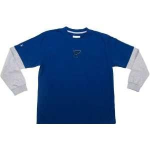 St Louis Blues YOUTH Boys Danger L/S T Shirt Sports