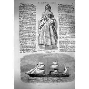 1869 Statue Queen Mary Peninsular Steam Ship Deccan Home & Kitchen