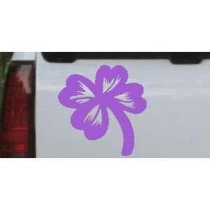 Purple 16in X 16.4in    Four Leaf Clover Car Window Wall Laptop Decal
