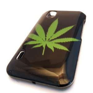 Straight Talk LG L85c Optimus Black Green Leaf Ganja Design HARD Case