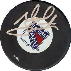 Neil Smith Autographed Hockey Puck (New York Rangers