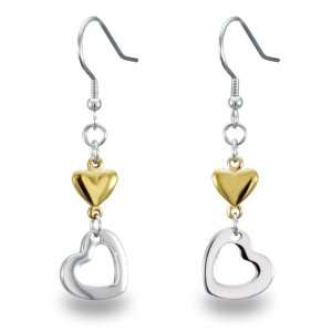 Heart and Gold Plated Solid Heart Earrings West Coast Jewelry