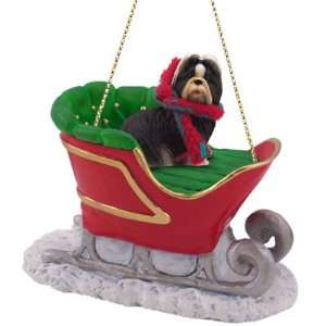 Shih Tzu Sleigh Christmas Ornament for Dog Lovers: Home & Kitchen
