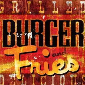Burger   Fries by Mark Andrew Allen Fine Art Canvas 12 x 12 in Gallery