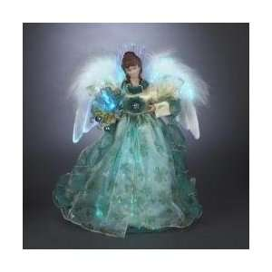 12 Luck of the Irish Fiber Optic LED Lighted Angel Christmas Tree