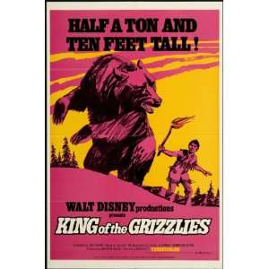 King of the Grizzlies 1970 Original U.S. One Sheet Poster