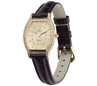 Vicence Ladies Diamond Accent Oval Case Watch,14K Gold   QVC