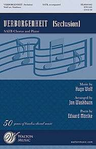 Verborgenheit sheet music by Hugo Wolf (1860 1903)  Sheet Music Plus