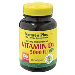 Natures Plus Vitamin D3 5000iu Softgels  33% Off Your First Order!