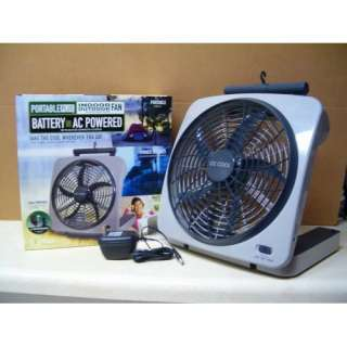 10 BATTERY OPERATED INDOOR/OUTDOOR FAN with ADAPTER  Home