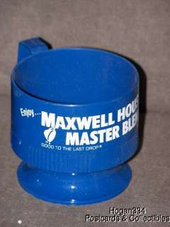 Vintage Maxwell House Master Blend Sweetheart Plastic Coffee Cup
