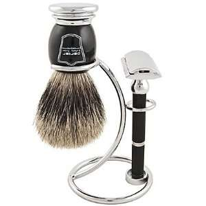 Parker 71R Safety Razor Shave Set   Includes Pure Badger Brush, Stand