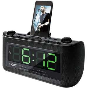 Coby CSMP120 Digital Alarm Clock/Radio for iPod