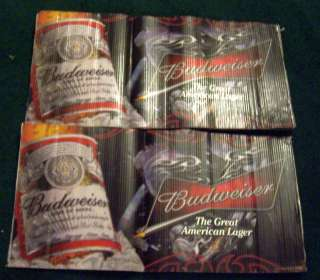 BUDWEISER BEER COOLER BAR WRAP SIGN MOTORCYCLE CHROME FLAMES BAR MAN