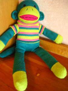 DanDee Sock Monkey Plush Stuffed Toy Collectors Choice