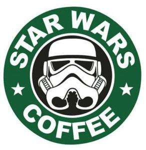 STAR WARS ~COFFEE~ IRON ON FABRIC TRANSFER