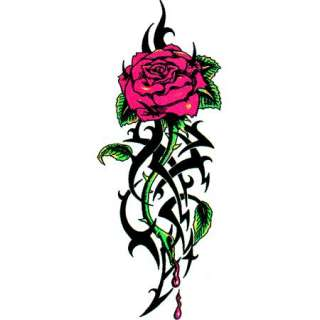 Large Pierced Rose Tattoo Temporary Tattoo This tattoo image has a