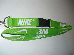 GREEN NIKE LANYARD FOR SCHOOL,WORK,PHONE,KEYS,MP3,CAMERA