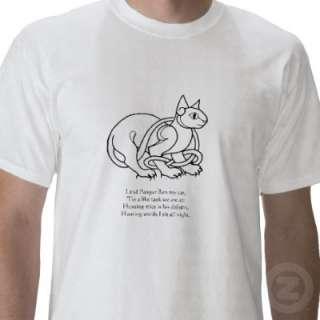 Pangur Ban (Irish cat) poem T shirt