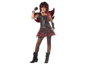Rebel Fairy Punk Rock Goth Girl Dress Child Costume Tween