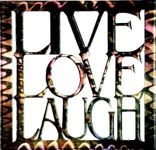New 16x16 LIVE LAUGH LOVE METAL WALL ART Square Artwork Country Decor
