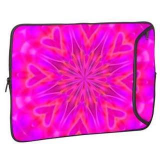 Designer Sleeve Laptop Case With Free Matching Laptop Skin   Pink
