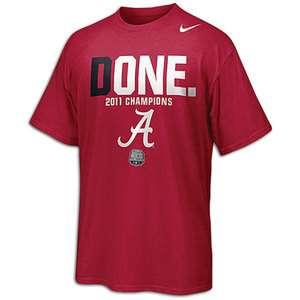 Nike Alabama Crimson Tide National Championships DONE T Shirt