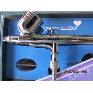 Dual Action Airbrush Kit Air Brush Model Craft Nail