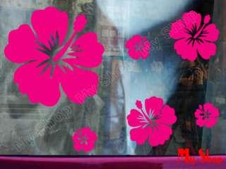 28 x Hibiscus Flower Car Window Stickers Decals 634#6