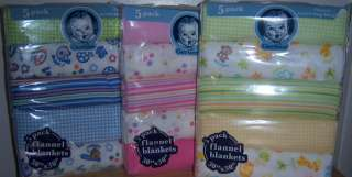 Gerber Flannel Receiving Blankets, Baby Shower, Good for Diaper Cakes
