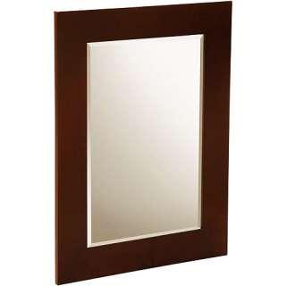 Pavilion Wall Mirror Brown, Bathroom Wall Mirror, Framed Wall Mirror