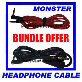 Bundle! Replacement cable for Dr Dre Monster Beats Studio headphone
