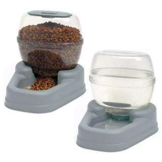 BER 11780 Petite Gourmet Combo Pack Pet Dog Cat Feeder Waterer Bowls