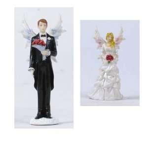 Wedding Cake Topper Figurines   Fairy Bride and Fairy Groom Figurines