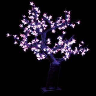 2.5 ft. Pre lit LED Cherry Blossom Tree   Pink Christmas Decor