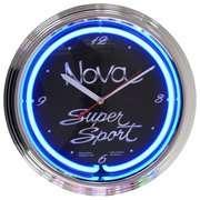 Neon Clock Neonetics Cars and Motorcycles Nova Super Sport Neon Clock