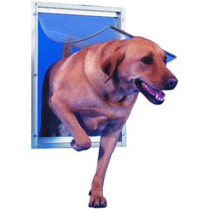 Ideal Deluxe Aluminum Pet Door White, Extra Large Dogs