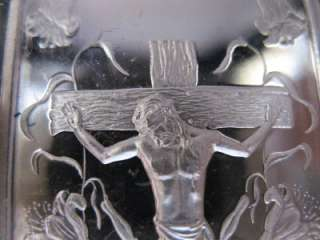 OZ999 SILVER EASTER CRUCIFIXION CROSS OF JESUS+GOLD