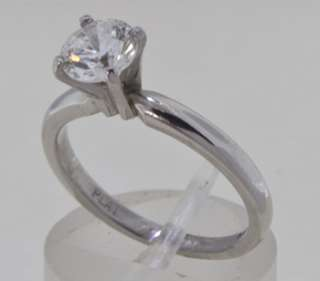 ct Carat Round Cut F SI1, GIA Certified Diamond Platinum Ring