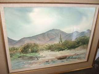 de la acuarela paisaje de Az del desierto de RAMÓN FROMAN artista de