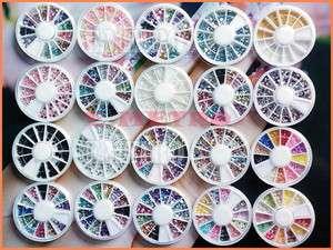 20 caja de brillo Piedra perlas fimo para decorar uñas
