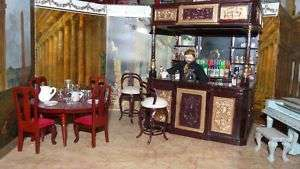 Dollhouse Saloon, Bar and Accessories