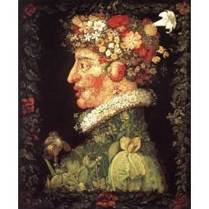 Made Oil Reproduction   Giuseppe Arcimboldo   24 x 30 inches   Spring