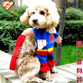 PET/DOG/CAT cloth super man costume any size super cool